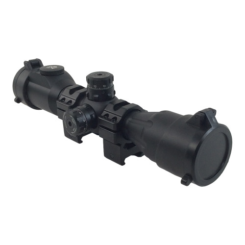 "4X32 1"" COMPACT CQB SCOPE 36 COLOR QD RINGS"