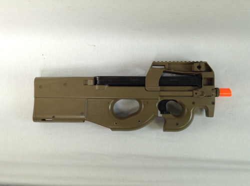 CYBERGUN P90 TAN AEG SMG CERTIFIED USED AIRSOFT for $99.99 at MiR Tactical