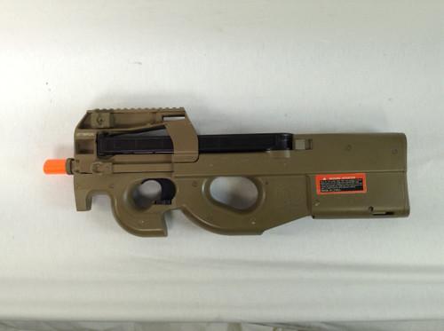 CYBERGUN P90 TAN AEG SMG CERTIFIED USED AIRSOFT