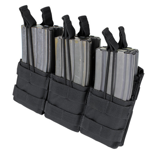 TRIPLE STACKER M4 MAG POUCH BLACK