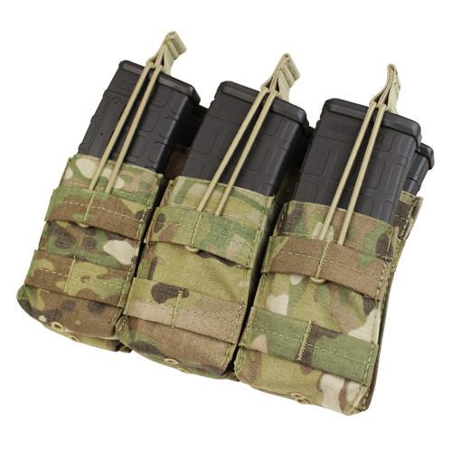 TRIPLE STACKER M4 MAG POUCH MULTICAM