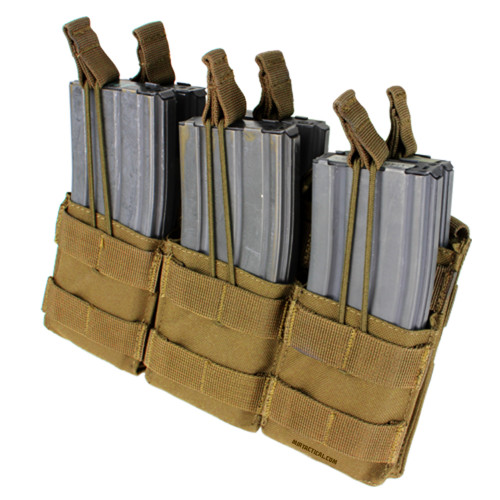 TRIPLE STACKER M4 MAG POUCH COYOTE