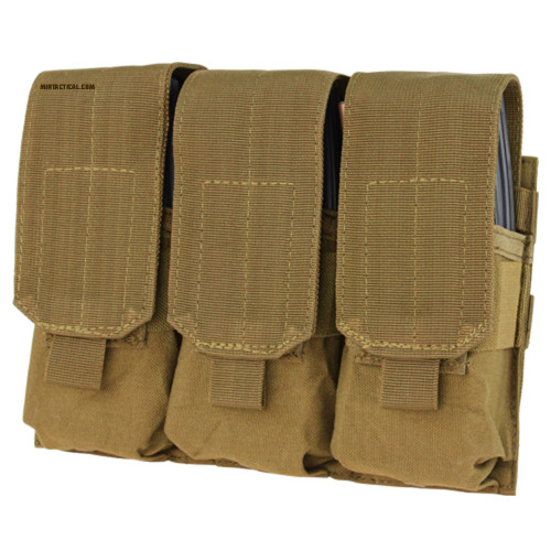TRIPLE M4 MAG POUCH COYOTE