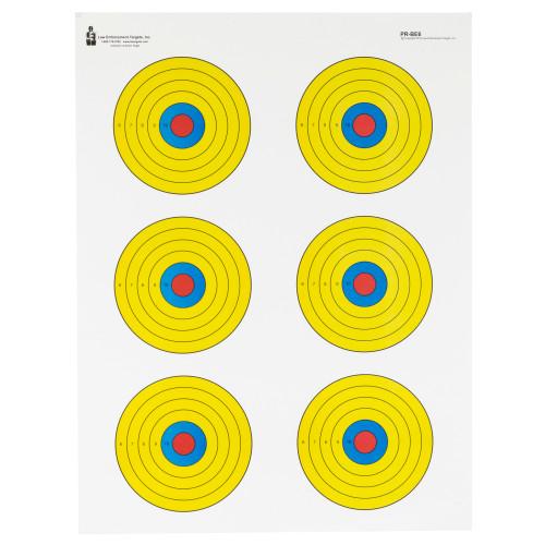 Action Tgt Bright 6 Bullseye 100pk