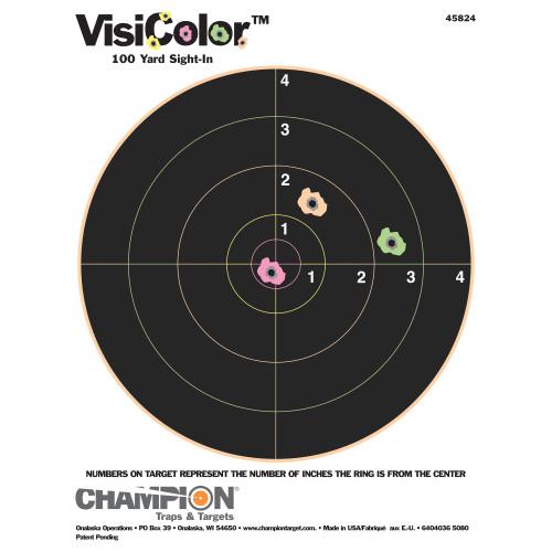 "Champion Visicolor 8"" Bullseye 10pk"