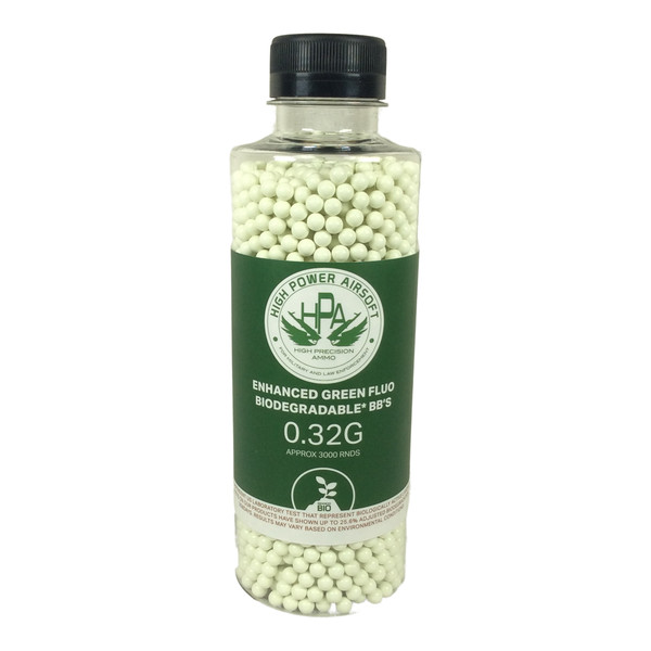 BB 0.32G 3000 TRACER GREEN BOTTLE AIRSOFT