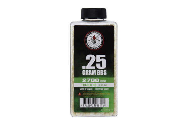 G&G TRACER BB'S .25G 2700CT GREEN