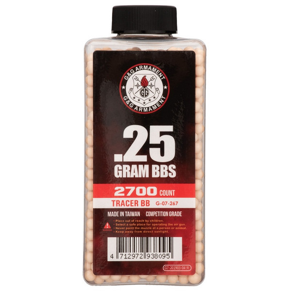 G&G TRACER BB'S .25G 2700CT RED