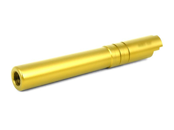 AIRSOFT MASTERPIECE OUTER BARREL GOLD 0.45 ACP FOR HI-CAPA 5.1
