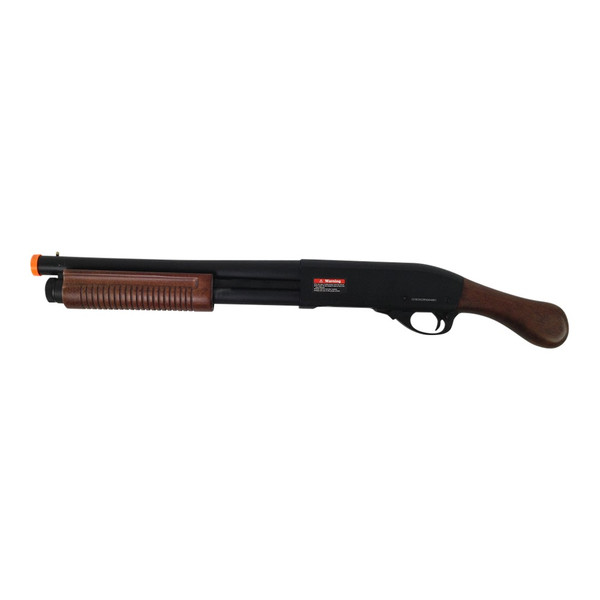 AIRSOFT GAS SCATTERGUN SAWED OFF WOOD