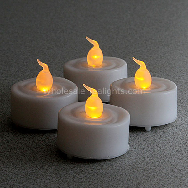 Set Of 4 Led Flameless Tealights Timer Wholesale Tea Lights