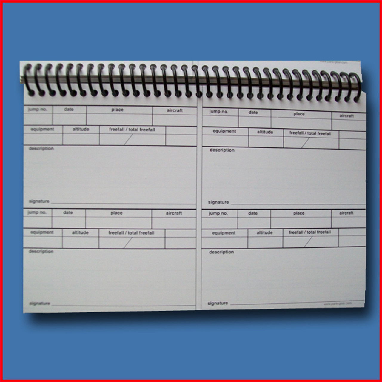 Precision 500 Log Book