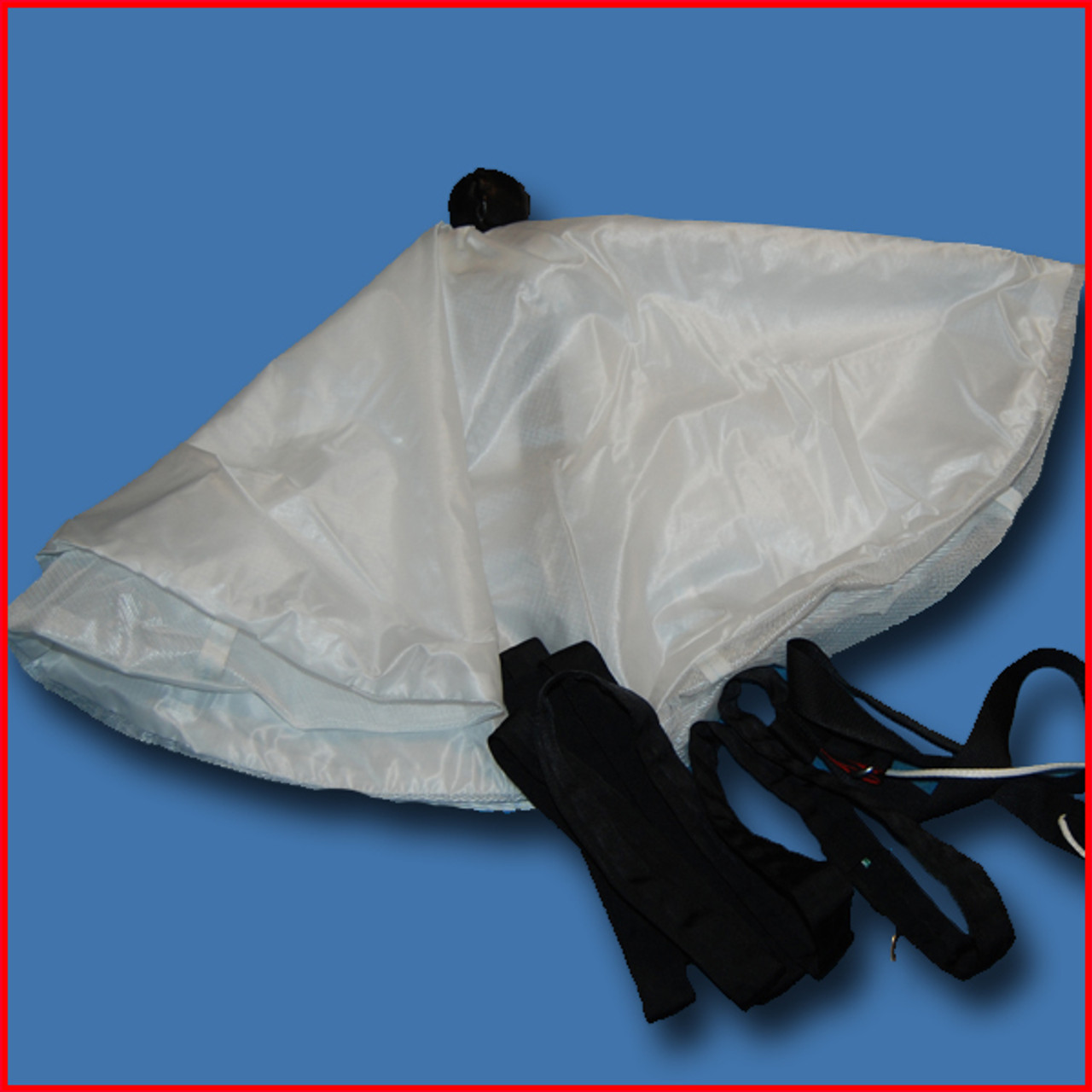 Collapsible Pilot Chute by Chernis (F-111) White with Black Hacky (In Stock)