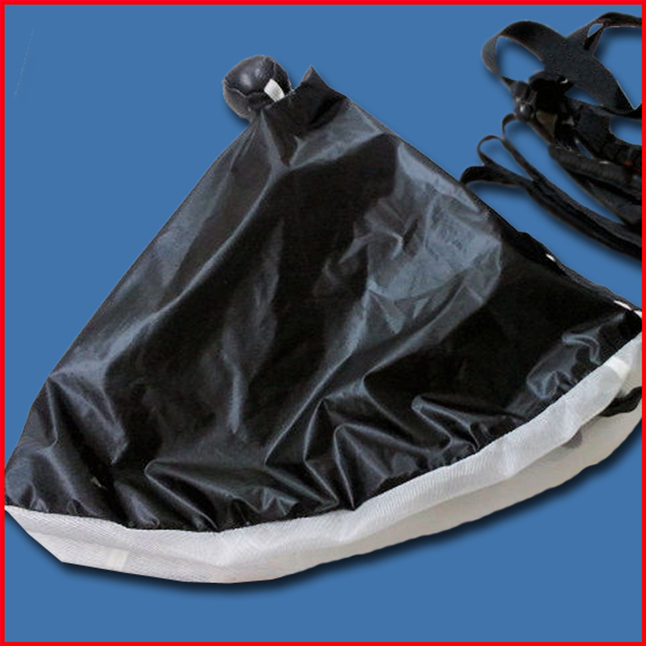 Collapsible Pilot Chute by Chernis (ZP) Black with Black Hacky (In Stock)