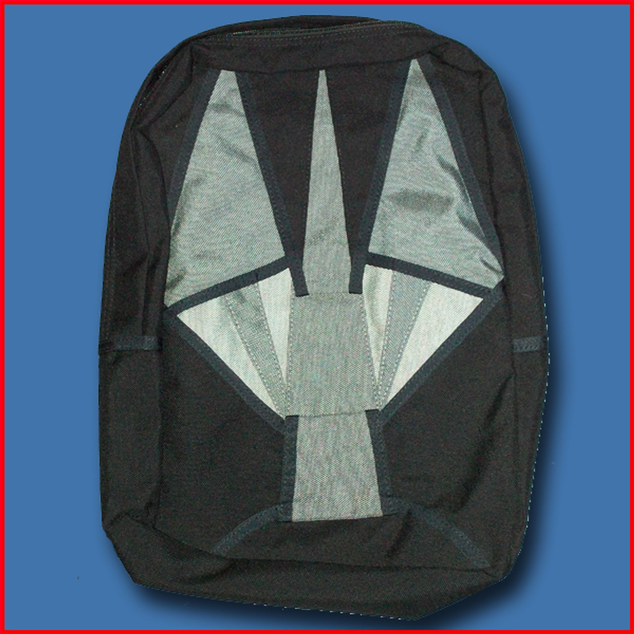 Mini Backpack in the shape of a Parachute (Black and Grey)