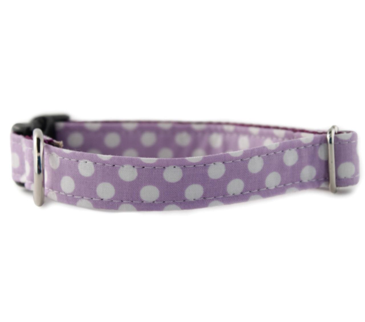 Lilac Daisy Chain Bow for Dog Collar