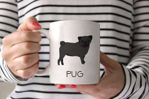 Black Pug Ceramic Mug