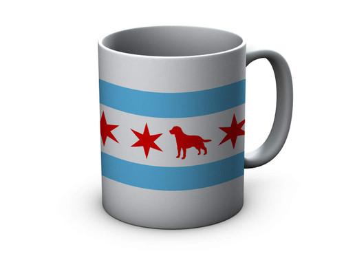 Chicago Flag Labrador Ceramic Mug