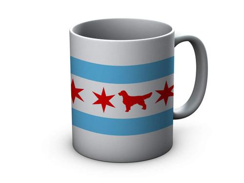Chicago Flag Golden Retriever Ceramic Mug