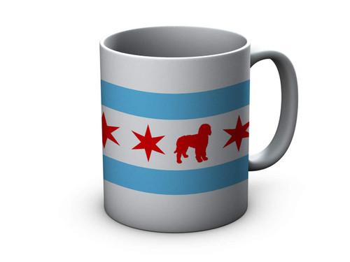 Chicago Flag Doodle Ceramic Mug