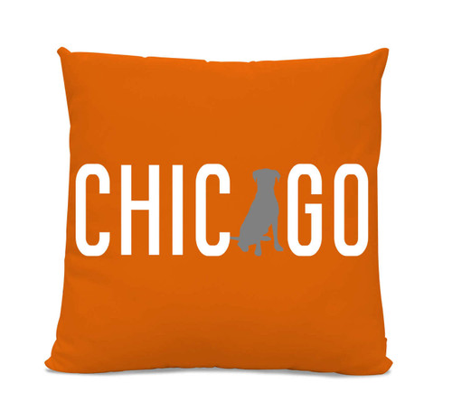 Chicago Labrador Orange Pillow