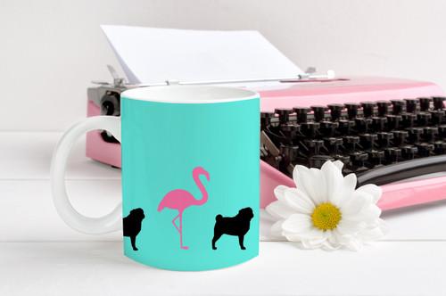 Flamingo Pug Coffee Mug