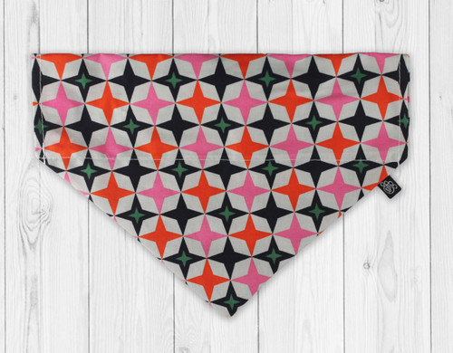 Retro Star Slip-On Dog Bandana