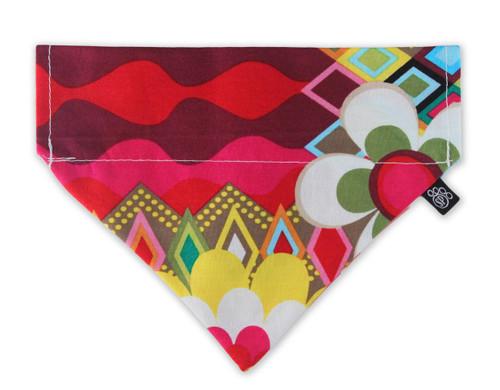 Rainbow Flower Mosaic Slip-On Dog Bandana