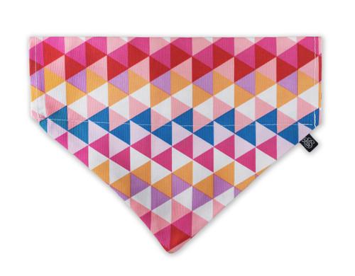 Pink Triangles Slip-On Dog Bandana