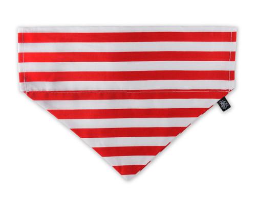 Candy Cane Stripe Slip-On Dog Bandana