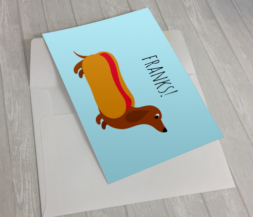 Franks! Thank You Card