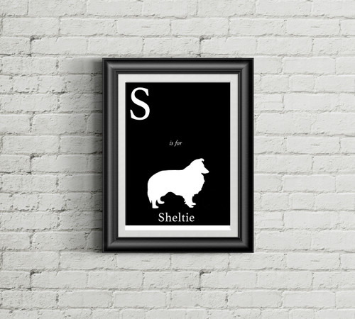 S is for Sheltie Alphabet Art Print