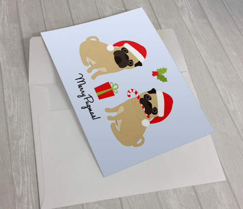Merry Pugmas Pug Christmas Card