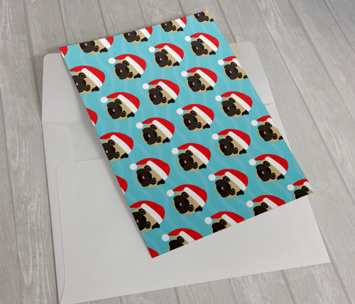 Santa Pugs Holidays Greeting Card