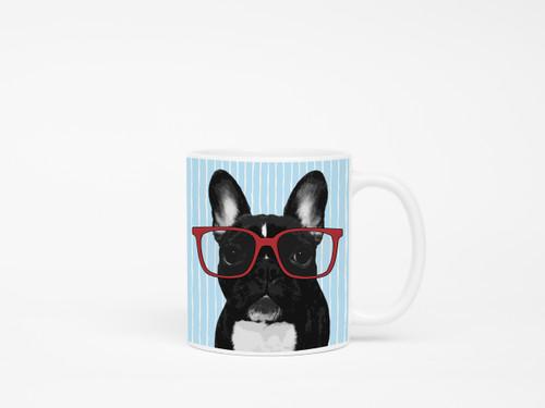French Bulldog in Glasses Coffee Mug