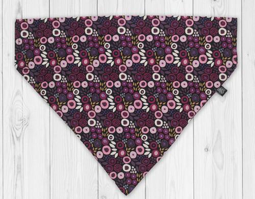 Purple Posy Slip-On Dog Bandana