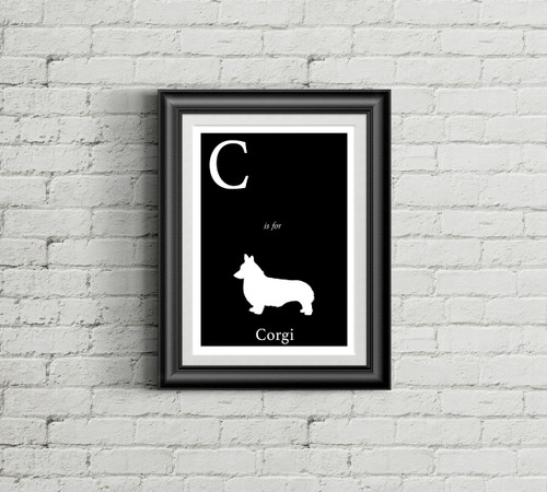 C is for Corgi Alphabet Art Print