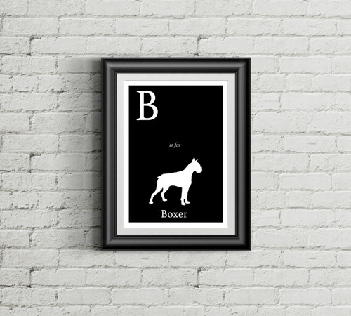 B is for Boxer Alphabet Art Print