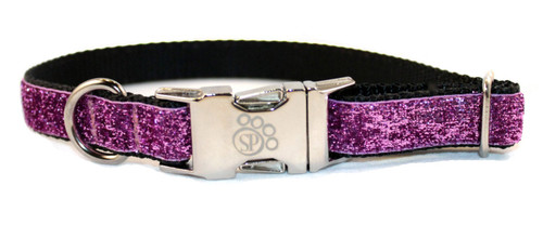 Fuchsia Glitter Dog Collar