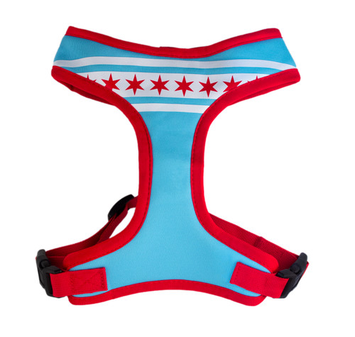 Chicago Flag Dog Harness - Comfort Soft