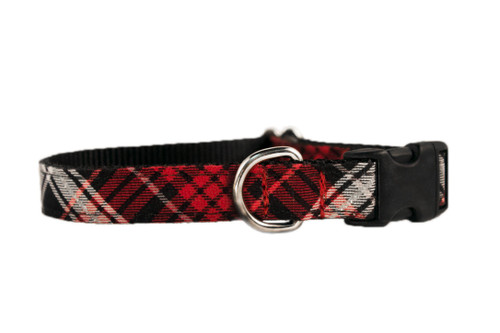 Holiday Plaid Dog Collar