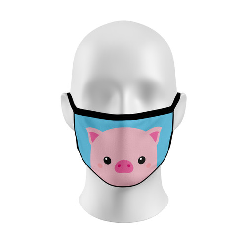Blue Pig Face Mask