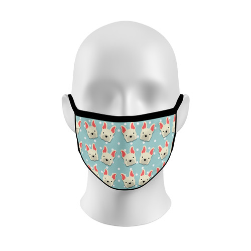 Polka Dot French Bulldog Face Mask