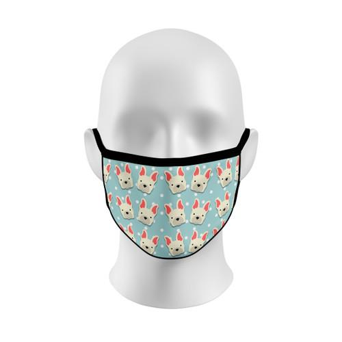 Polka Dot French Bulldog Face Mask