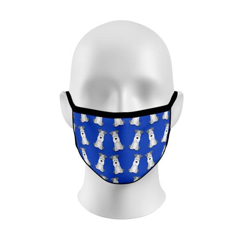 Blue Schnauzer Face Mask