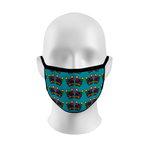 Sugar Skull French Bulldog Face Mask with Elastic Straps