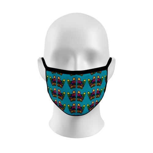 Sugar Skull French Bulldog Face Mask with Elastic Straps