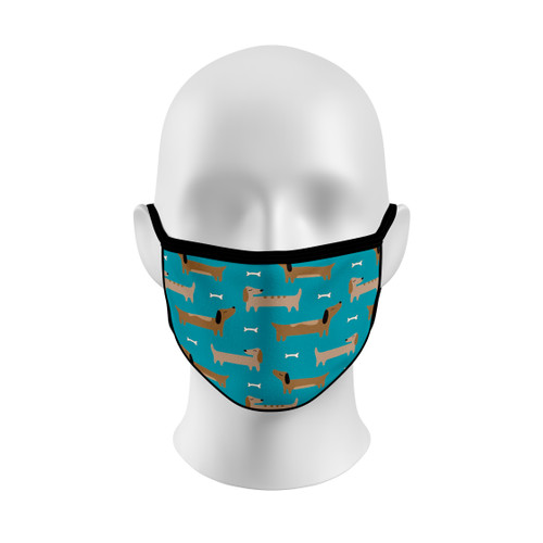 Dachshund Face Mask with Elastic Straps