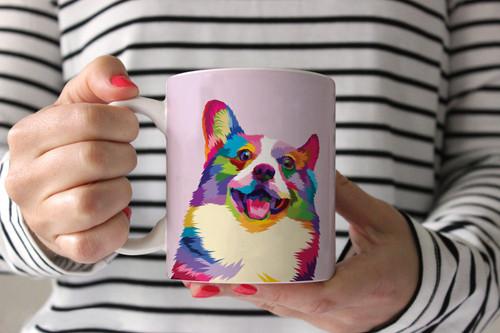 Colorful Corgi Coffee Mug