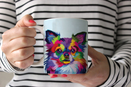 Colorful Papillon Coffee Mug